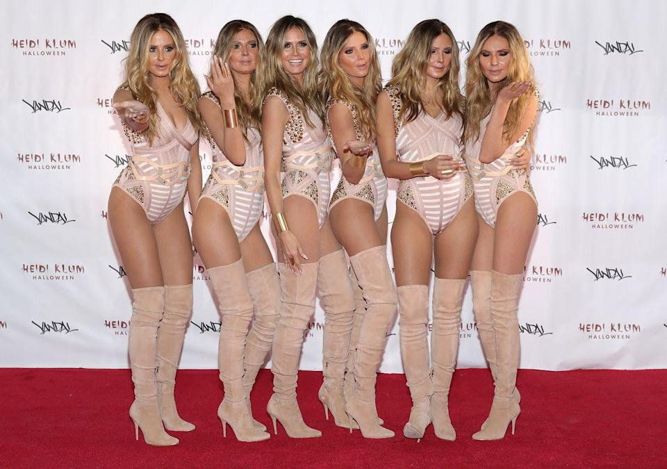<p>Six Heidis are always better than one, right? Well, this was the model's thinking in 2016 when she made five women undergo time in the make-up chair to be transformed into Heidi lookalikes. </p><p>This is like a weird but more beautiful version of Where's Wally?</p>