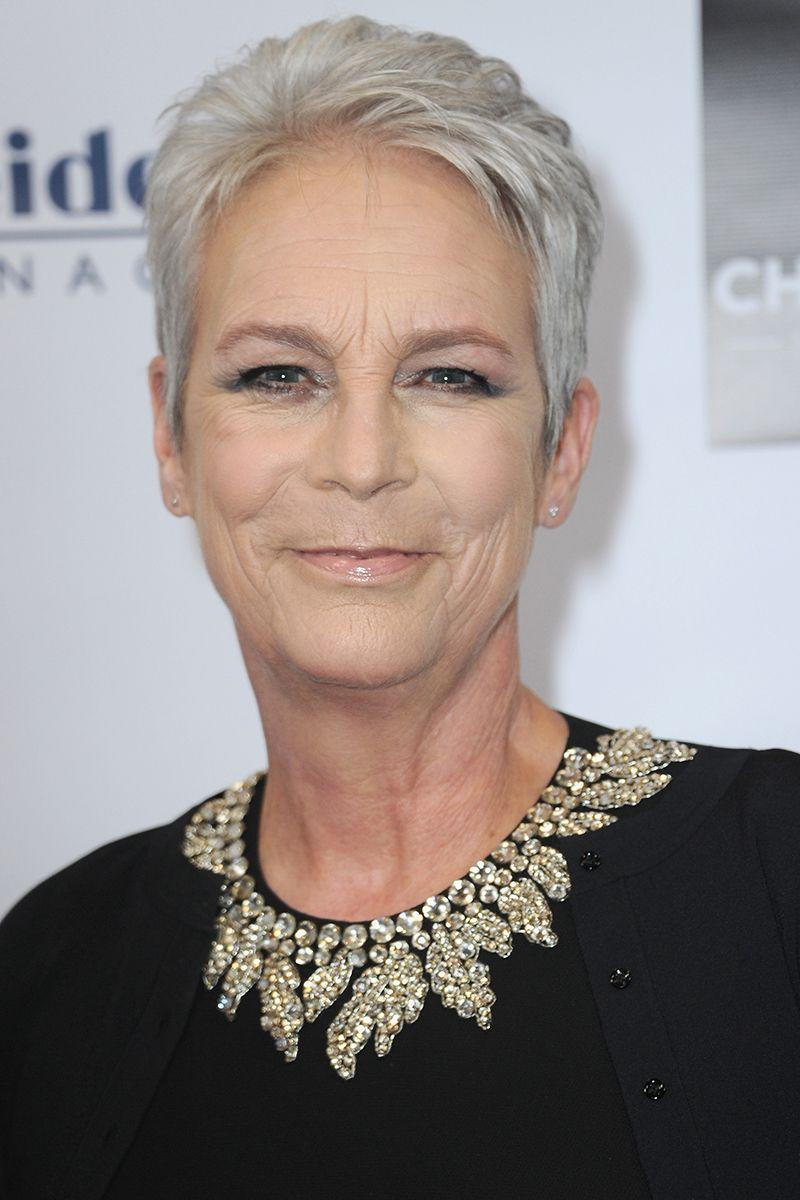 <p>Gray hair is classic and chic, and Jamie Lee Curtis is killing the shade in her signature short pixie. </p>
