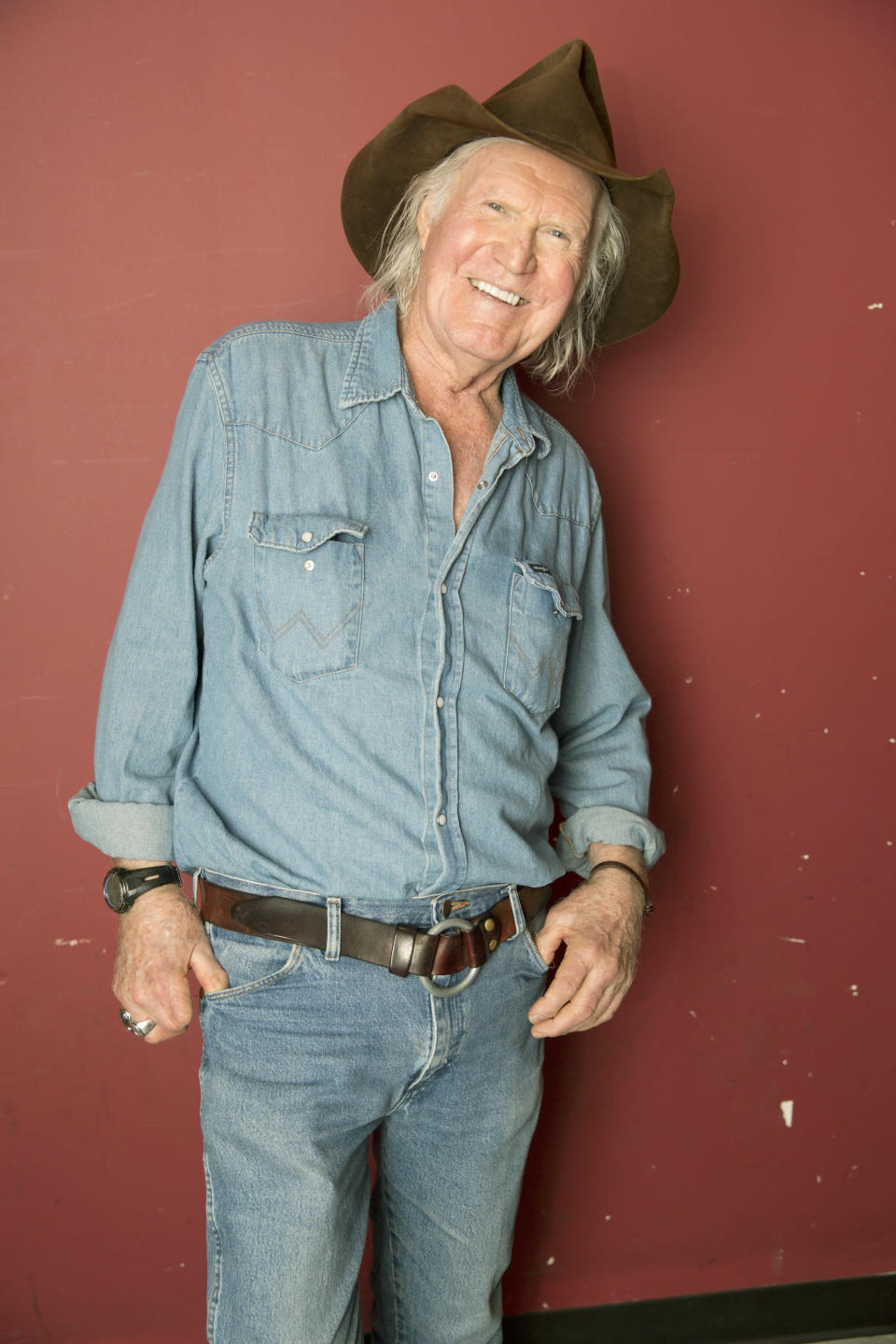 "FILE - Artist Billy Joe Shaver poses backstage following his concert ""Billy Joe Shaver presented by WMOT/Roots Radio"" at City Winery Nashville in Nashville, Tenn. on April 1, 2017. Shaver, who penned songs for Waylon Jennings, Willie Nelson and Bobby Bare, has died. His friend Connie Nelson said he died Wednesday in Texas following a stroke. He was 81. (Photo by Laura Roberts/Invision/AP, File)"