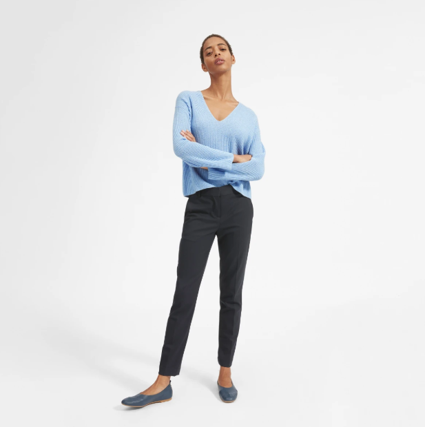 The Cashmere Rib V-Neck