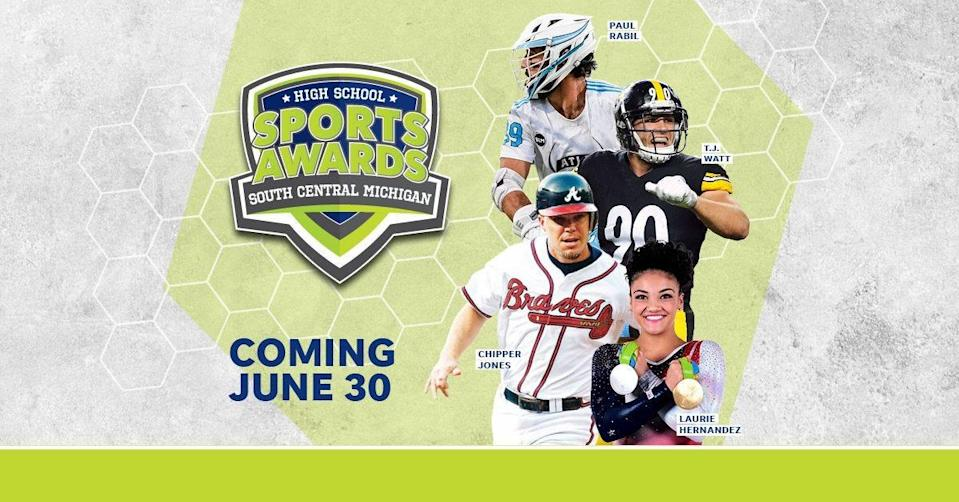 Chipper Jones, T.J. Watt, Laurie Hernandez, Paul Rabil, join the growing list of legendary athletes presenting at the South Central Michigan High School Sports Awards.
