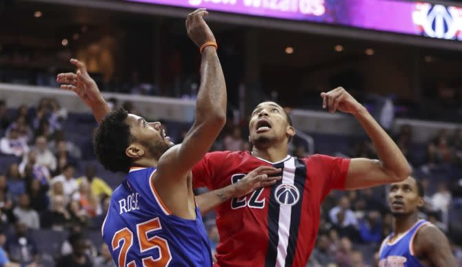 Derrick Rose Dunk During Knicks  Loss To Wizards Shows Point Guard ... a4c6ece10