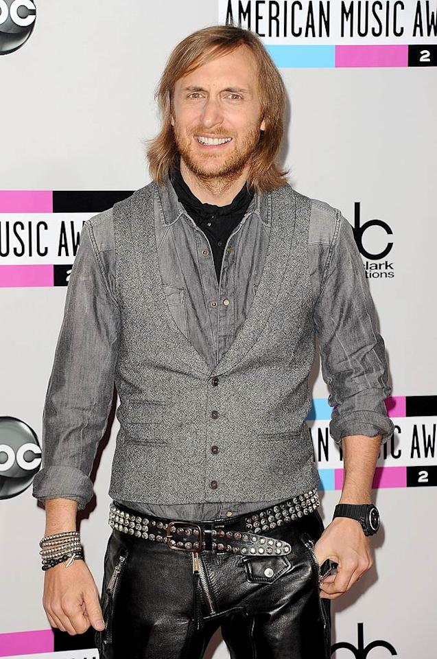 Music producer and DJ David Guetta arrives at the 2011 American Music Awards held at the Nokia Theatre L.A. LIVE. (11/20/2011)