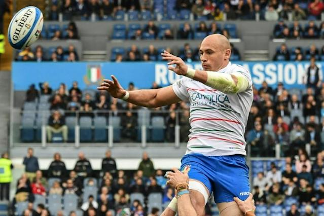 Captain Sergio Parisse last featured for Italy during the Six Nations March (AFP Photo/Vincenzo PINTO )