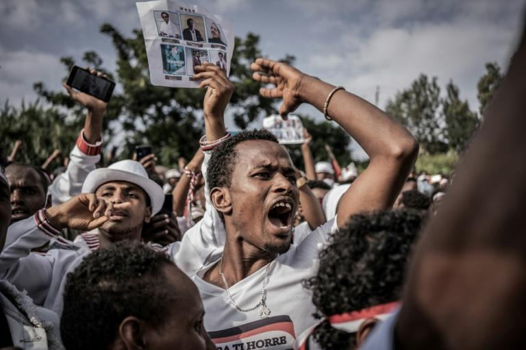 Since 2019, Abiy has allowed a separate Irreecha celebration to take place in Addis Ababa (AFP/STR)