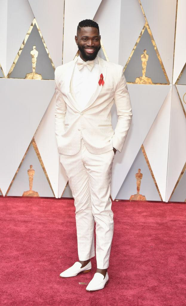 <p>Tarell Alvin McCraney went with all white. <em>(Photo: Getty Images)</em> </p>
