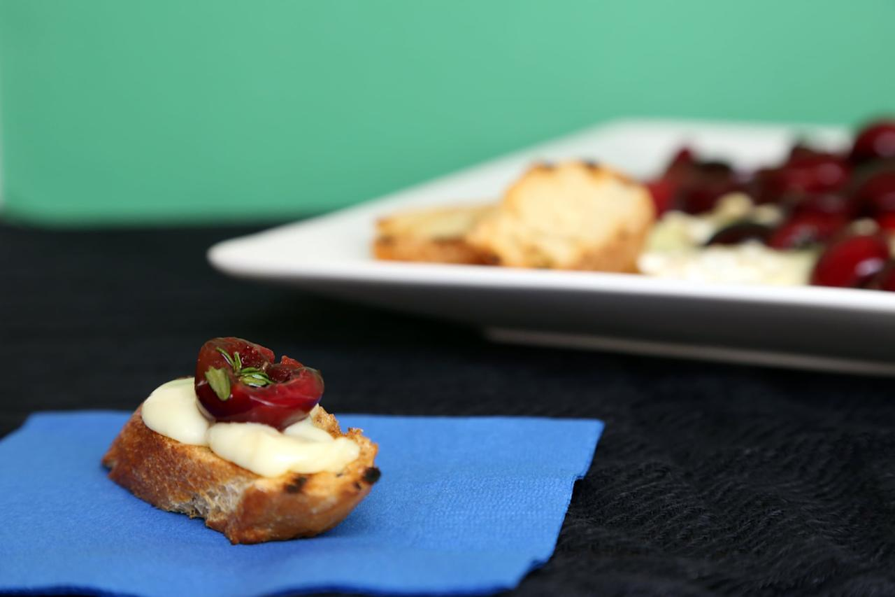 """<p>Take the meaning of """"grilled cheese"""" to a whole new level by throwing gooey brie and fresh cherries on the grill.</p> <p><strong>Get the recipe:</strong> <a href=""""https://www.popsugar.com/food/Grilled-Brie-Fresh-Cherries-Recipe-8961915"""" class=""""ga-track"""" data-ga-category=""""Related"""" data-ga-label=""""https://www.popsugar.com/food/Grilled-Brie-Fresh-Cherries-Recipe-8961915"""" data-ga-action=""""In-Line Links"""">grilled brie with cherries</a></p>"""