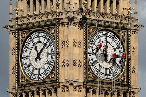 cleaning big ben - Credit: Getty