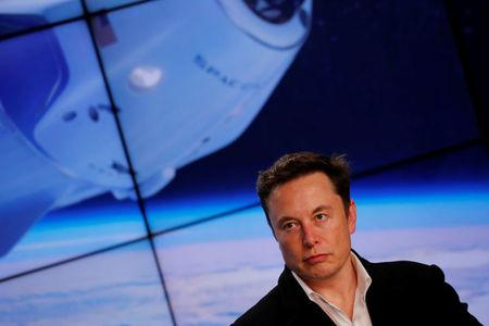 SpaceX founder Elon Musk speaks at a post-launch press conference in Cape Canaveral