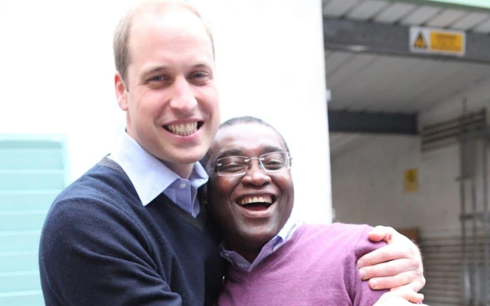 Prince William & Centrepoint Chief Executive Seyi Obakin, pictured in 2013 - Harriet Armstrong