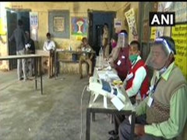 Visual from a polling booth in Bihar