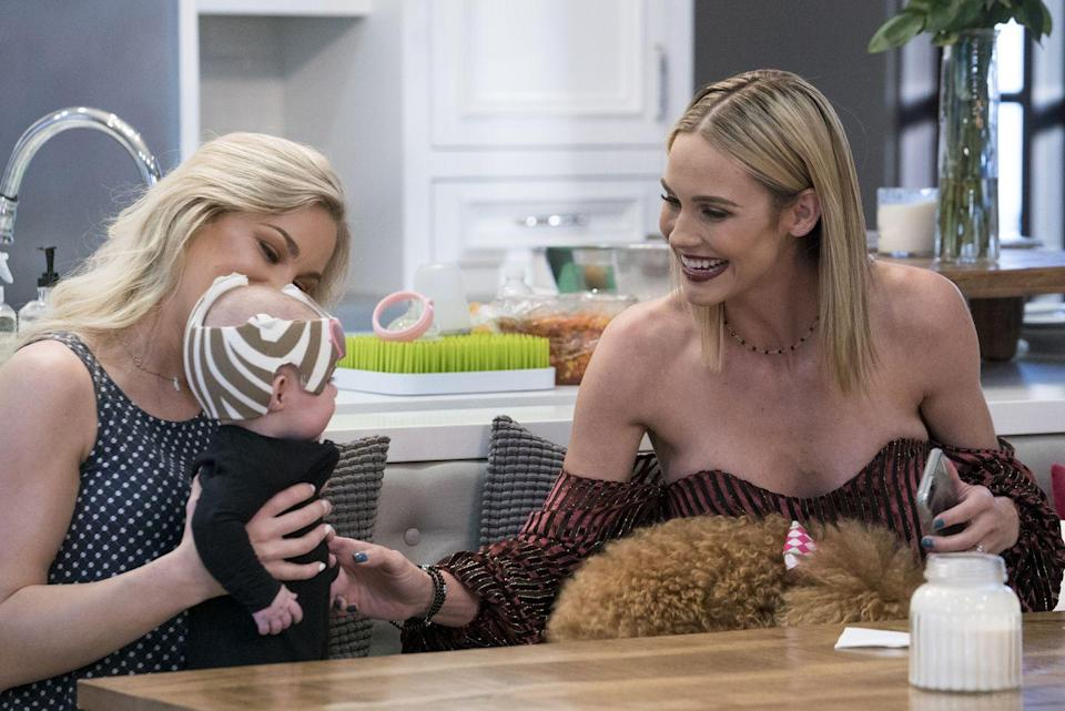 """<p>There are strict rules about filming children, as <a href=""""https://www.bravotv.com/the-daily-dish/real-housewives-of-new-jersey-behind-the-scenes-secrets-spoilers"""" rel=""""nofollow noopener"""" target=""""_blank"""" data-ylk=""""slk:legally they can only be filmed for a limited time each day"""" class=""""link rapid-noclick-resp"""">legally they can only be filmed for a limited time each day</a>. So production has to come up with a strict schedule to make sure they get the footage they need in the constrained time. </p>"""