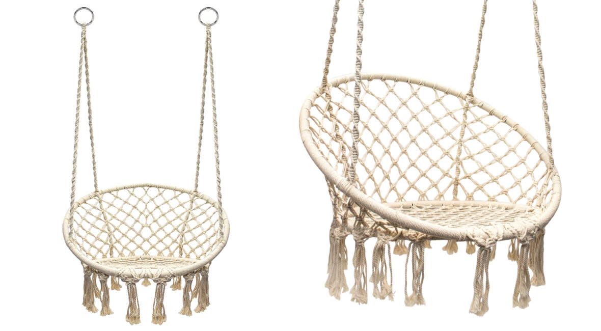 Sorbus Hanging Rope Chair (Photo: QVC)