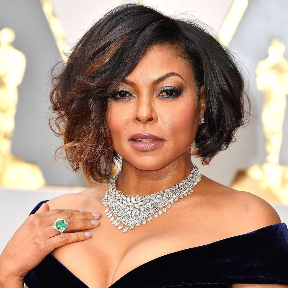 """<p>Taraji P. Henson's bob comes with tons of texture and a heavy side part that opens up her eyes, says Potempa. """"This is a great hairstyle to wear with a necklace and an off-the-shoulder [silhouette],"""" she suggests.</p> <p>To get the look, start by creating a strong side part. If you don't have highlights, you can use short hair extensions <a href=""""https://shop-links.co/1745690735483094372"""" rel=""""nofollow noopener"""" target=""""_blank"""" data-ylk=""""slk:like these ones from Laced"""" class=""""link rapid-noclick-resp"""">like these ones from Laced</a> to add color and dimension to your hair without a full color service. Then, use a round brush to blow out your hair, brush your bangs in the opposite direction to build volume, and add a <a href=""""https://www.allure.com/gallery/best-blowout-cream-sprays?mbid=synd_yahoo_rss"""" rel=""""nofollow noopener"""" target=""""_blank"""" data-ylk=""""slk:blowout cream"""" class=""""link rapid-noclick-resp"""">blowout cream</a>. </p> <p>Finish by curling the ends of your hair with a small barrel curling iron in opposite directions. Apply <a href=""""https://www.allure.com/gallery/best-dry-texture-sprays?mbid=synd_yahoo_rss"""" rel=""""nofollow noopener"""" target=""""_blank"""" data-ylk=""""slk:texture spray"""" class=""""link rapid-noclick-resp"""">texture spray</a>, fluff your hair gently, and you're all set.</p>"""