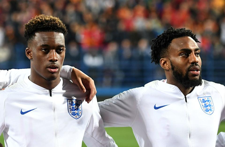Callum Hudson-Odoi, left, and Danny Rose are speaking out against racism because nobody at the top will. (Getty)