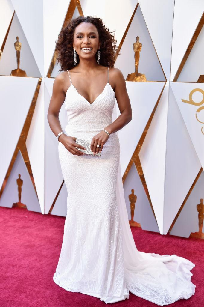 <p>Janet Mock attends the 90th Academy Awards in Hollywood, Calif., March 4, 2018. (Photo: Getty Images) </p>