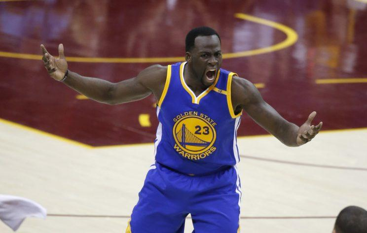 Draymond Green had plenty to say after Game 4. (AP)