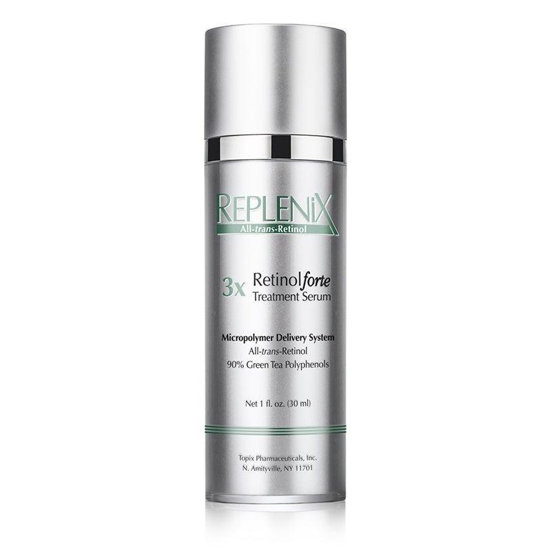 """<h3><a href=""""https://www.dermstore.com/product_RetinolForte+Treatment+Serum+3X_71220.htm"""" rel=""""nofollow noopener"""" target=""""_blank"""" data-ylk=""""slk:Replenix RetinolForte Treatment Serum 3X"""" class=""""link rapid-noclick-resp"""">Replenix RetinolForte Treatment Serum 3X</a><br></h3> <br>Dr. Palm generally opts for a prescription-grade retinoid, but as far as over-the-counter retinol, she suggests this one or <a href=""""https://www.neutrogena.com/skin/rapid-wrinkle-repair-serum/6812014.html"""" rel=""""nofollow noopener"""" target=""""_blank"""" data-ylk=""""slk:Neutrogena Rapid Wrinkle Repair Serum"""" class=""""link rapid-noclick-resp"""">Neutrogena Rapid Wrinkle Repair Serum</a> for patients. """"Both contain an effective concentration of a stable, active retinol to help build collagen, fight fine lines, reverse pigmentary changes, and help other active topical skin-care product ingredients penetrate more effectively,"""" she says.<br><br><strong>Replenix</strong> RetinolForte Treatment Serum 3X, $, available at <a href=""""https://www.dermstore.com/product_RetinolForte+Treatment+Serum+3X_71220.htm"""" rel=""""nofollow noopener"""" target=""""_blank"""" data-ylk=""""slk:DermStore"""" class=""""link rapid-noclick-resp"""">DermStore</a><br>"""