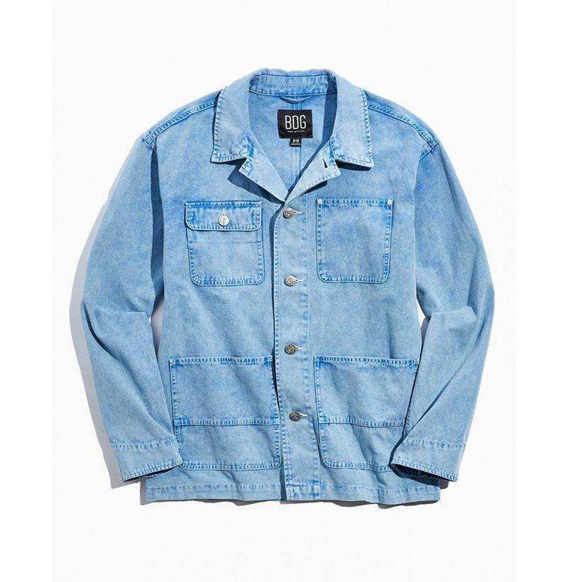 """<p><strong>BDG</strong></p><p>urbanoutfitters.com</p><p><strong>$29.99</strong></p><p><a href=""""https://go.redirectingat.com?id=74968X1596630&url=https%3A%2F%2Fwww.urbanoutfitters.com%2Fshop%2Fbdg-acid-wash-chore-jacket&sref=https%3A%2F%2Fwww.esquire.com%2Fstyle%2Fmens-fashion%2Fg33032327%2Fcheap-july-4-sales-mens-fashion%2F"""" rel=""""nofollow noopener"""" target=""""_blank"""" data-ylk=""""slk:Buy"""" class=""""link rapid-noclick-resp"""">Buy</a></p><p>Lean <em>waaay</em> into menswear's serious '80s moment...</p>"""