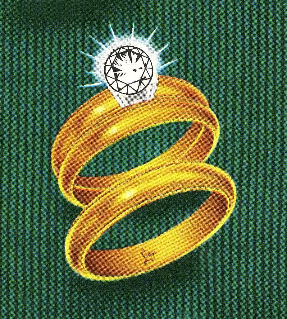 <p>As people began taking a more personalized approach to their rings, it became common for the bride and groom to design matching wedding sets. Jewelers could sell you a matching wedding band to your engagement ring, as well as a band for your husband.</p>