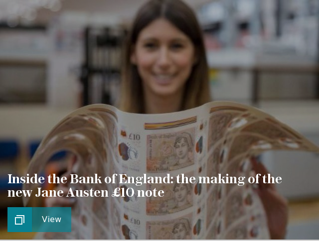 Inside the Bank of England: the making of the new Jane Austen £10 note