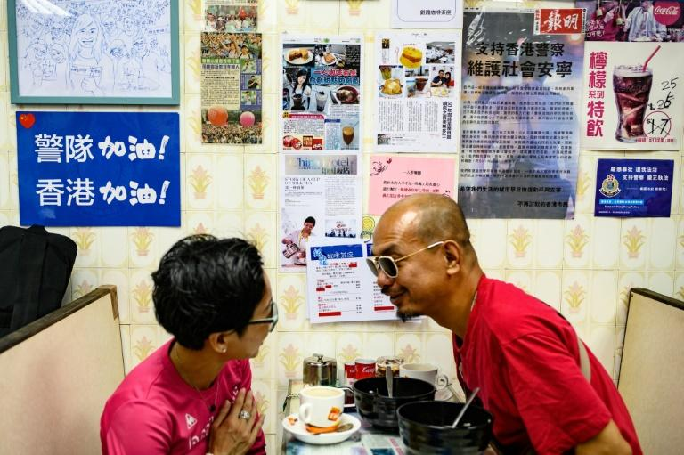 Lee's cafe is often packed with hungry patrons (AFP Photo/Philip FONG)