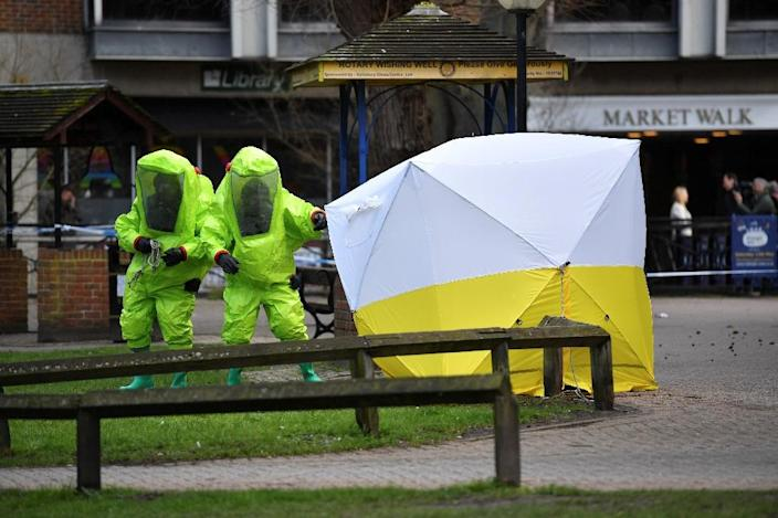 Skripal and his daughter were found in critical condition at The Maltings shopping centre (AFP Photo/Ben STANSALL)