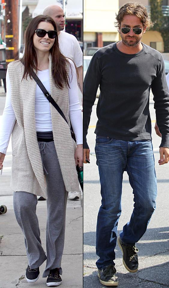 "Jessica Biel and Gerard Butler are ""getting close,"" reports <i>Star</i>. According to the magazine, Butler ""is crazy about Jessica and has been practically glued to her side"" in Louisiana while they shoot their romantic comedy, ""Playing the Field."" After Biel initially told Butler she ""just wanted to be friends,"" he began to ""chase her even more."" For juicy dish on their now budding romance, check out what a Butler confidante leaks to <a href=""http://www.gossipcop.com/jessica-biel-gerard-butler-dating-hooking-up/"" target=""new"">Gossip Cop</a>. <a href=""http://www.wireimage.com"" target=""new"">WireImage.com</a>/<a href=""http://www.pacificcoastnews.com/"" target=""new"">PacificCoastNews.com</a>"