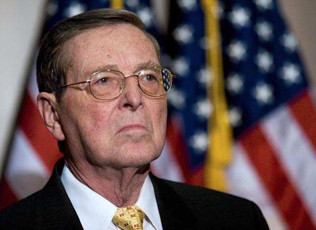 <p>Representing New Mexico for over 35 years, Domenici was a Senate power broker. He died on Sept. 13 at age 85. (Photo: Mandel Ngan/AFP/Getty Images) </p>