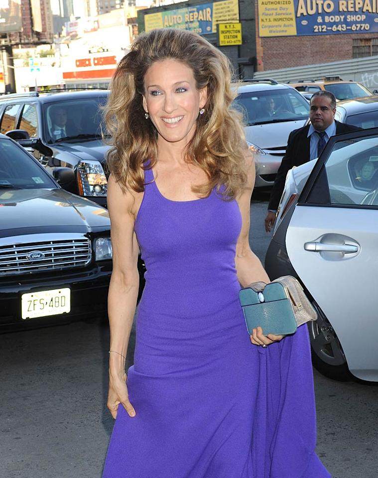 """Sarah Jessica Parker raised eyebrows when she showed off some sky-high hair at Monday's 2011 Robin Hood Foundation Gala at New York's Jacob Javits Convention Center. The event raised more than $47 million to fight poverty in New York City. Demis Maryannakis/<a href=""""http://www.splashnewsonline.com"""" target=""""new"""">Splash News</a> - May 9, 2011"""