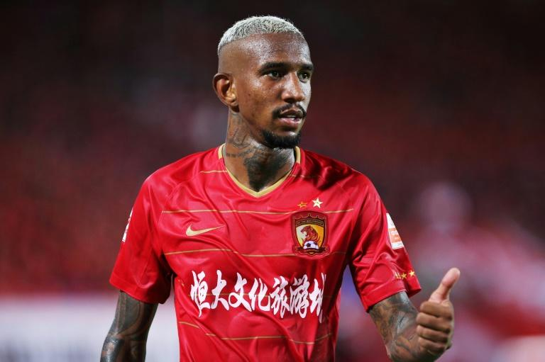 """The Guangzhou Daily called Talisca the """"iconic white-haired Brazilian"""" -- he dyes his dark hair"""