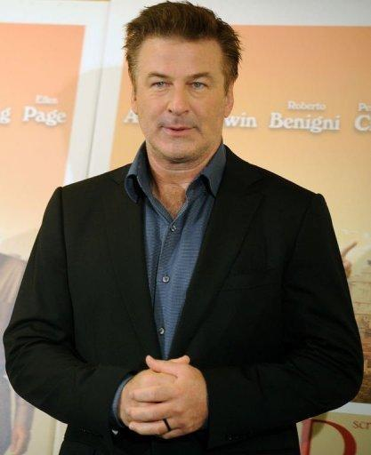 "US actor Alec Baldwin poses during the potocall for the film ""To Rome With Love"". In the film, Baldwin is a famous architect who bumps into a young man played by Jesse Eisenberg of ""Social Network"" fame and re-lives his youth"