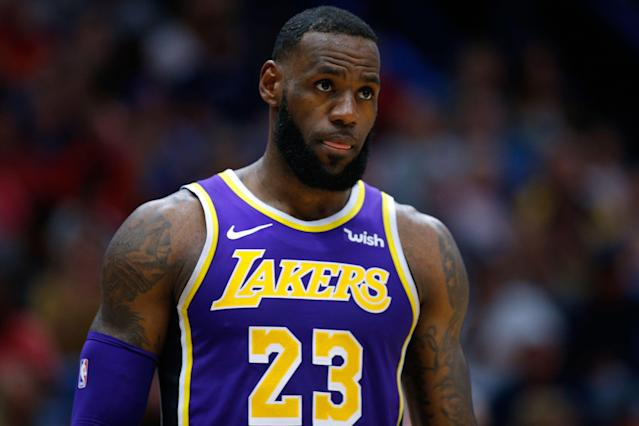 The Lakers trading away LeBron James would be ... surprising. (Getty Images)