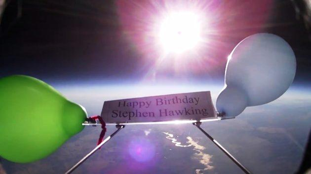 High Altitude Balloon Tribute To Stephen Hawking