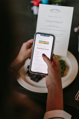Guests at the restaurant are able to scan a QR code on the menu to view additional information about the meat they are eating, including provenance mapping.