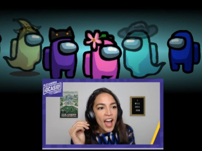 AOC plays the hit game 'Among Us' during a sensational Twitch stream (AOC/Twitch)