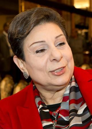 FILE PHOTO: Palestinian legislator and activist Ashrawi at International Conference Of Council for Arab and International Relations in Kuwait City
