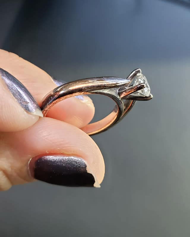 A ring-shaming post has spectacularly backfired. Photo: Facebook