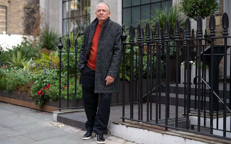 Mickey's new look consists of a mullan overcoat, £425; ribbed crew neck, £149; wool drawstring pant, £149 and Veja trainers, £100. All available from Albam - Christopher Pledger