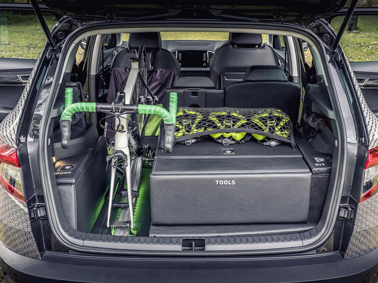 There's space for an additional bicycle and kit inside the car
