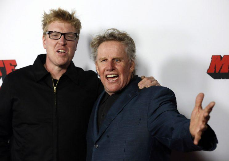 Like Busey, like son... Jake will play the son of his dad's Gary's character from Predator 2 in the new reboot - Credit: Reuters