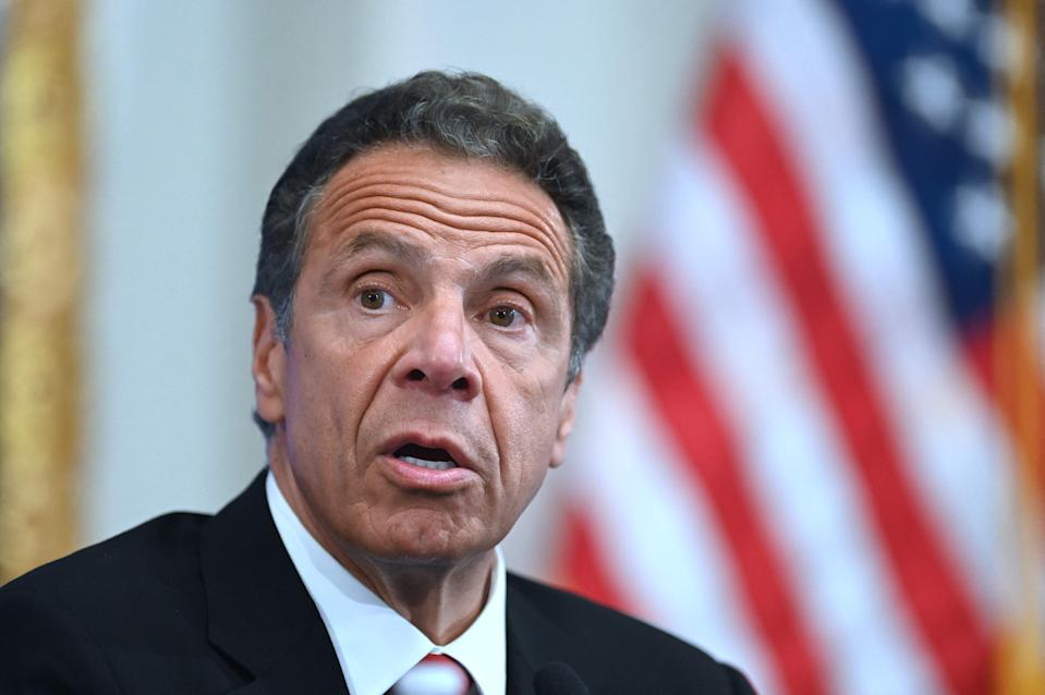 "New York Gov. Andrew Cuomo says, ""I fully support a woman's right to come forward, and I think it should be encouraged in every way."""