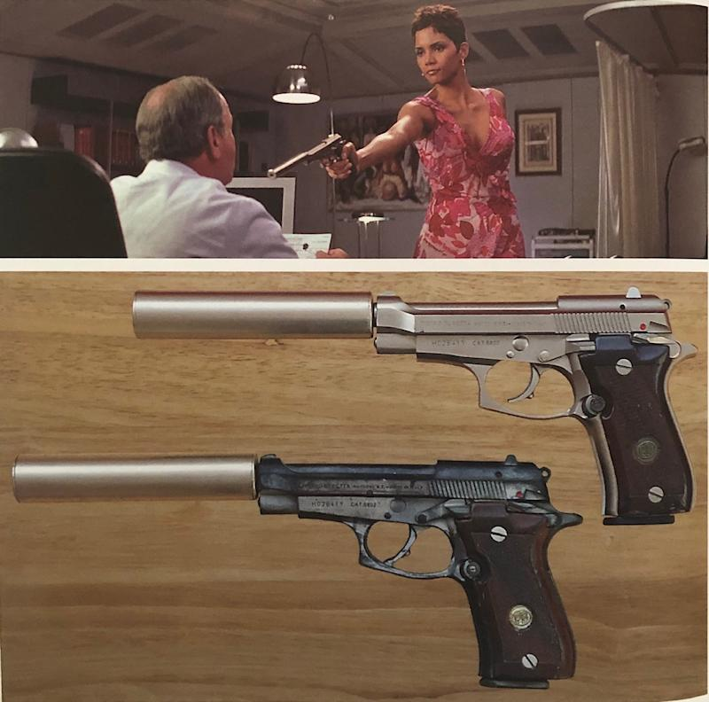 A Beretta gun used by Halle Berry in Die Another Day was among James Bond props stolen in a burglary in Enfield in March (Metropolitan Police/PA)
