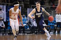 """<p>The Golden Eagles delivered their second upset of the tournament by defeating the Florida Gators 81-78 in the second round. With the win, Oral Roberts secured their <a href=""""https://twitter.com/ORUMBB/status/1373813633151565825?ref_src=twsrc%5Etfw%7Ctwcamp%5Etweetembed%7Ctwterm%5E1373813633151565825%7Ctwgr%5E%7Ctwcon%5Es1_&ref_url=https%3A%2F%2Fbleacherreport.com%2Farticles%2F2937414-no-15-oral-roberts-rallies-to-upset-no-7-florida-in-ncaa-mens-tournament"""" rel=""""nofollow noopener"""" target=""""_blank"""" data-ylk=""""slk:first trip to the Sweet 16 since 1974"""" class=""""link rapid-noclick-resp"""">first trip to the Sweet 16 since 1974</a>. </p>"""