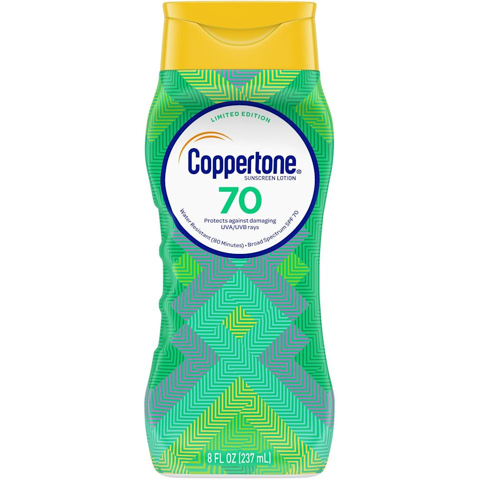 <p>This <span>Coppertone Ultra Guard SPF 70 Lotion</span> ($18) boasts water-resistant UVA and UVB protection and contains vitamin E. </p>