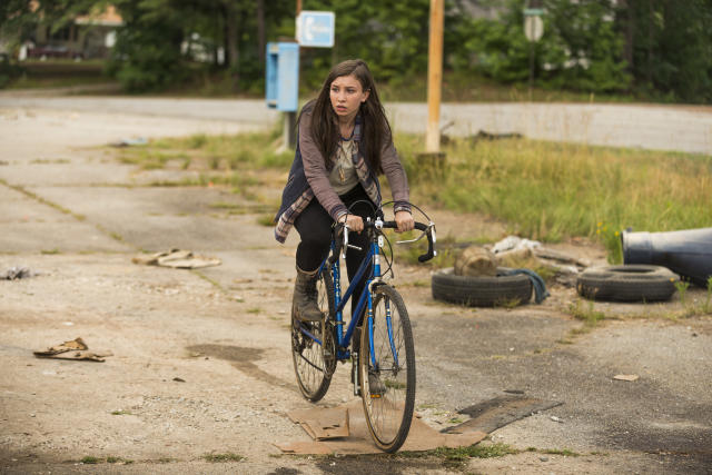 <p>The dour and cynical teen behaved like a stormcloud that follows people around, dumping sarcastic remarks and stupid behavior on their heads. She's improved somewhat after adopting Maggie as a mentor, but she's still way too angsty.<br><br>(Photo: AMC) </p>