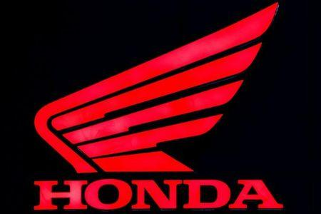 The logo of Honda is pictured at the 38th Bangkok International Motor Show in Bangkok