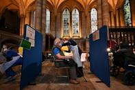 Britain has used a variety of venues, including England's Salisbury Cathedral, for its vaccination campaign