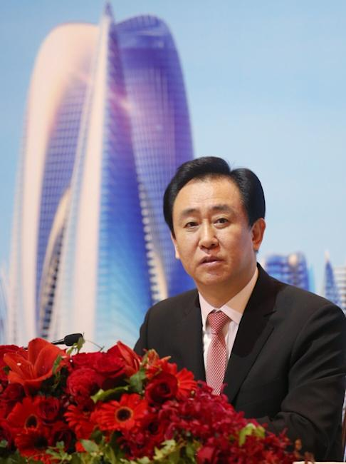 Hui Ka-yan, Chairman of the Board of China Evergrande Group, attends the China Evergrande Group 2017 Annual Results at the Four Seasons Hotel in Central. 26MAR18 SCMP / David Wong