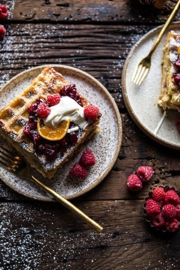 "<strong>Get the <a href=""https://www.halfbakedharvest.com/monte-cristo-waffle-strata/?highlight=ham"" target=""_blank"">Monte Cristo Waffle Strata</a> recipe from Half Baked Harvest.</strong>"